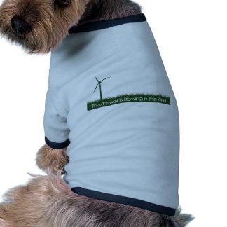 Go Green, Go Clean, Go Renewable Ringer Dog Shirt