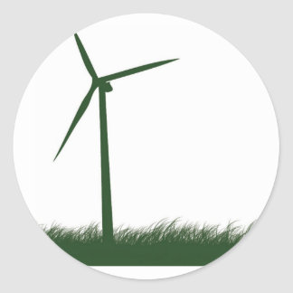Go Green, Go Clean, Go Renewable Round Sticker