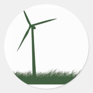 Go Green, Go Clean, Go Renewable Classic Round Sticker