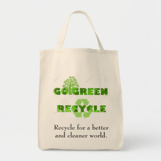 Go green grocery bag