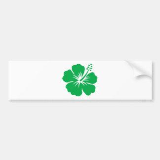 Go green hibiscus flower bumper sticker