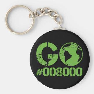 Go Green HTML RGB Key Chain