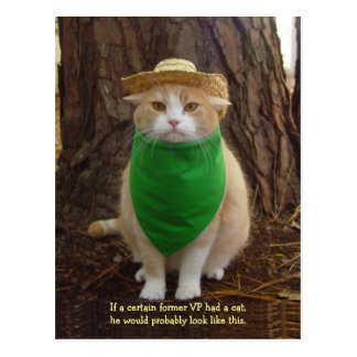 Go Green Kitty Postcard