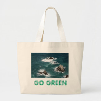 GO GREEN LARGE TOTE BAG