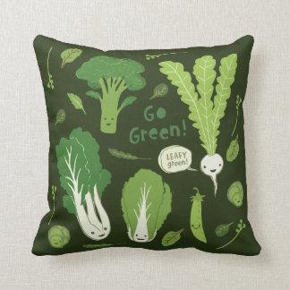 Go Green! (Leafy Green!) Cute Veggies Cushion