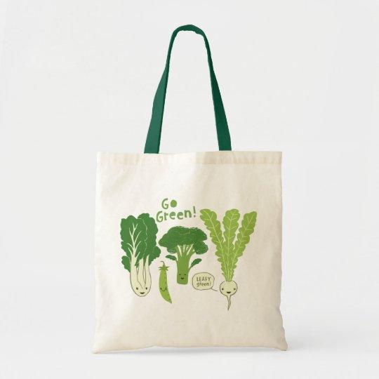Go Green! (Leafy Green!) Happy Garden Veggies Tote