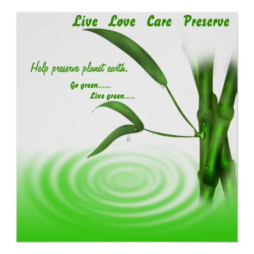 Go Green, Live Green Poster Print