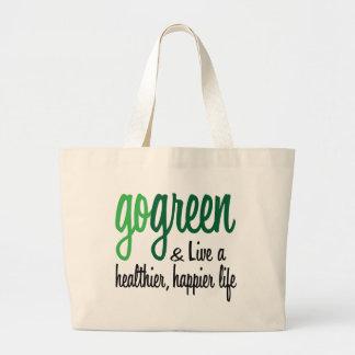 Go Green Live Happier Jumbo Tote Bag