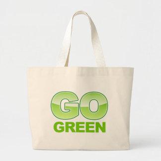 Go Green Logo Canvas Bags