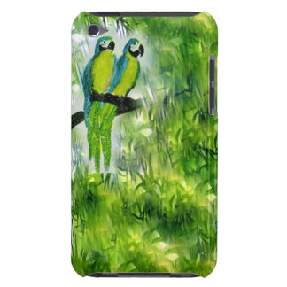 Go green Macaw case iPod Touch Cases