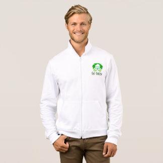 Go green men's jogging fleece jacket