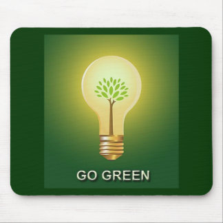 GO GREEN MOUSE MAT