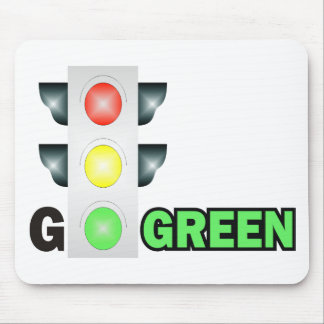GO GREEN MOUSE PADS