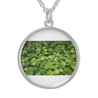 Go Green Natural Leaves Silver Round Necklace