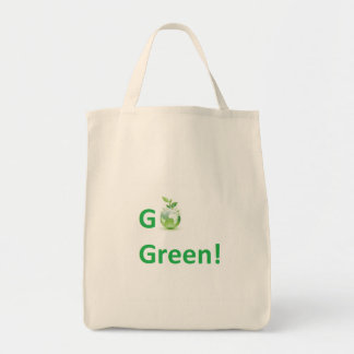 Go Green Organic Tote Grocery Tote Bag