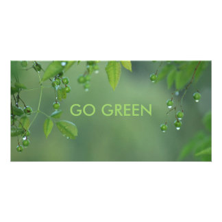 GO GREEN PERSONALISED PHOTO CARD
