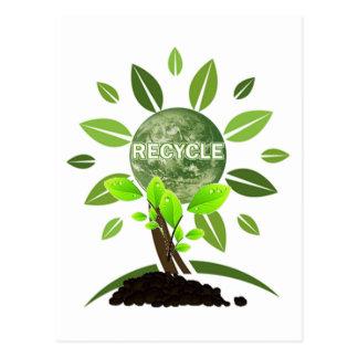GO GREEN POSTCARD