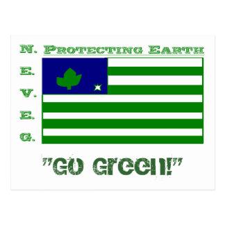 """Go Green!"" Postcard"
