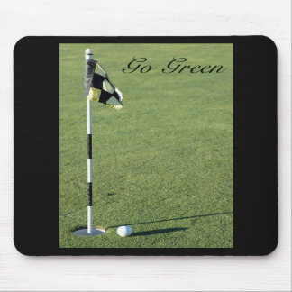 """Go Green"" putting green mouse pad"