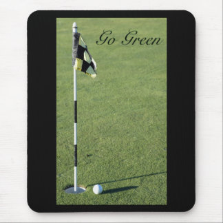 Go Green putting green mouse pad