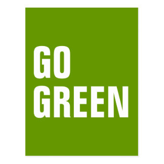 GO GREEN QUOTE POSTCARD