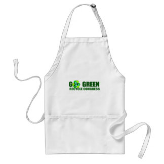 GO GREEN. RECYCLE CONGRESS ADULT APRON