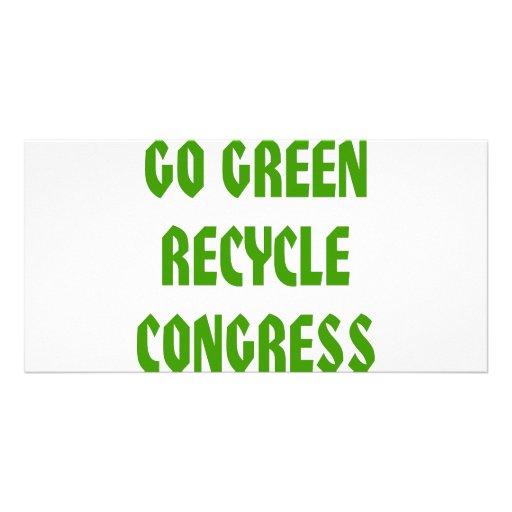 Go Green Recycle Congress Photo Card