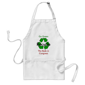 Go Green - Recycle the Reds in Congress Standard Apron