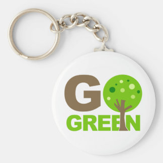 Go Green Recycle Tree Keychains