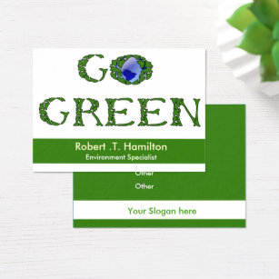 Green recycling business cards business card printing zazzle uk go green recycling company business cards reheart Image collections