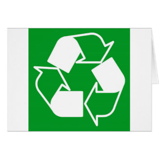 go green reduce recycle greeting card