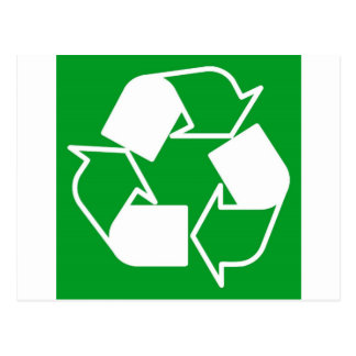 go green reduce recycle postcard