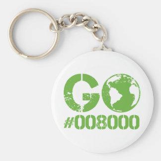 Go Green RGB CMKY Basic Round Button Key Ring