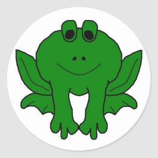 Go Green! Round Sticker