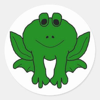Go Green! Round Sticker
