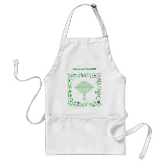 GO GREEN, THINK GREEN Tree in Letter G Adult Apron