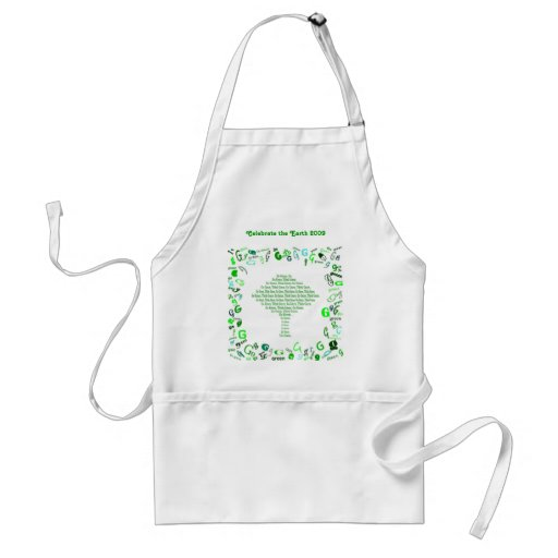 GO GREEN, THINK GREEN Tree in Letter G Apron