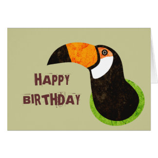 Go Green Toucan Toco Greeting Card