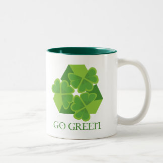 Go Green! Two-Tone Mug