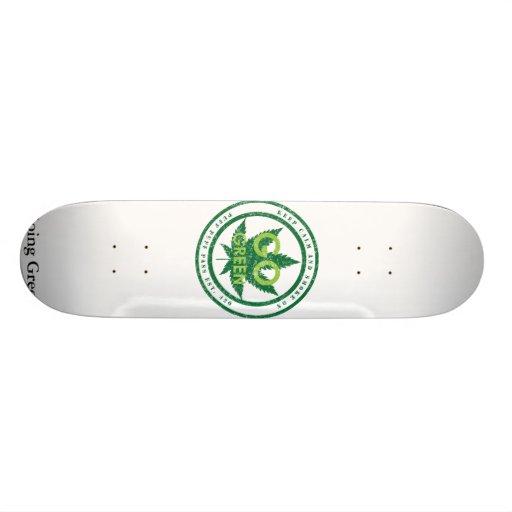 go_green_v2, Going Green Custom Skate Board