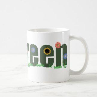 go green w/Flowers Coffee Mug