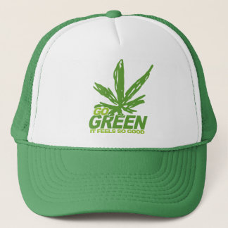 Go Green Weed Trucker Hat