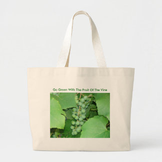 Go Green With The Fruit Of The Vine Jumbo Tote Bag