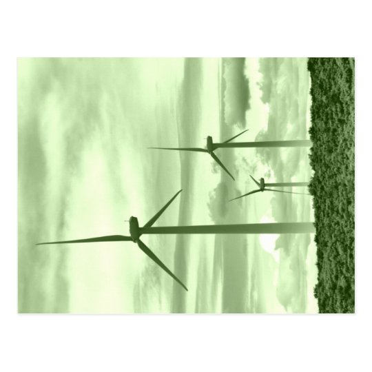 Go Green With Windpower Postcard