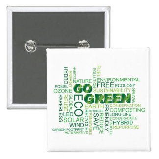 Go Green Word Cloud Button