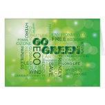 Go Green Word Cloud Card