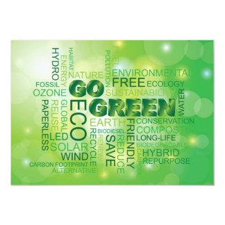 Go Green Word Cloud Invitation