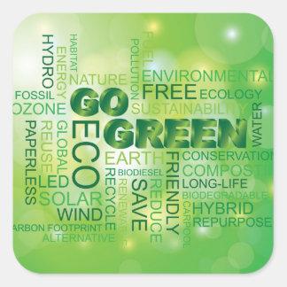 Go Green Word Cloud Sticker