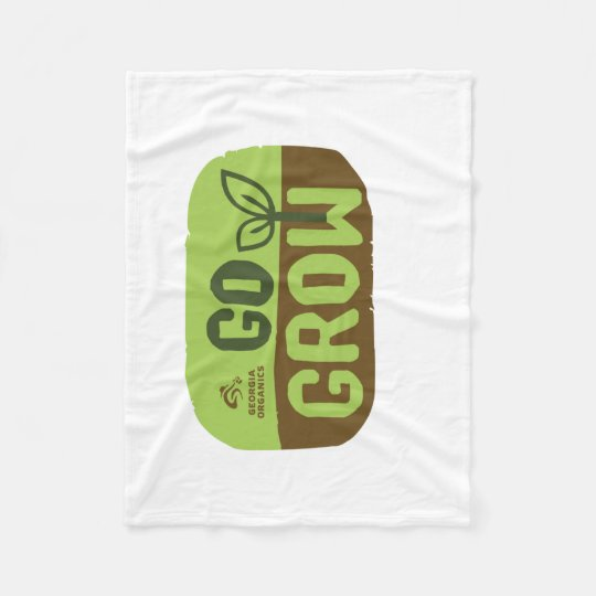 Go Grow Georgia Organics Fleece Blanket Small