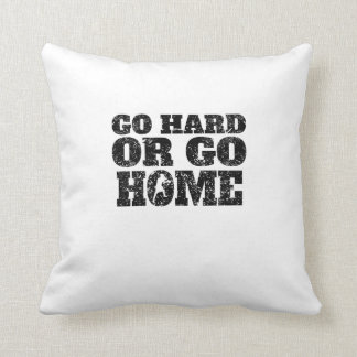 Go Hard Or Go Home Boxing Throw Pillow